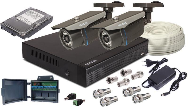 Zestaw AHD, 2x Kamera HD/IR35, Rejestrator 4ch + 1TB na Arena.pl