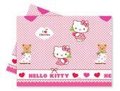 Obrus plastikowy  Hello Kitty Hearts różowe120x180
