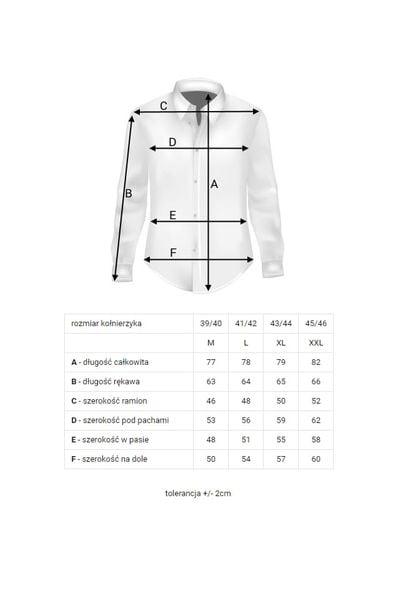Koszula Męska Sefiro gładka biała SLIM FIT na spinki lub  y1H8R
