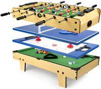 Stół do Gier 4 w 1 Junior Piłkarzyki, Bilard, Hokej, Tenis stołowy 210