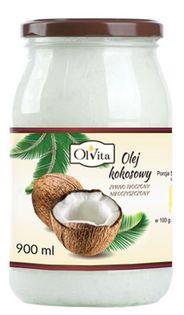 Olej kokosowy nierafinowany ZIMNOTŁOCZONY  900ml Ol'Vita
