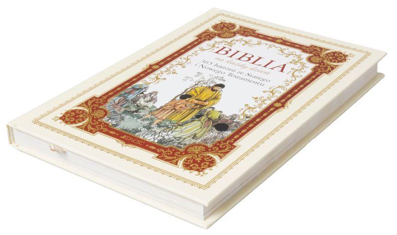 BIBLIA DLA DZIECI 365 HISTORII z grawerem PAMIĄTKA CHRZTU KOMUNII zdjęcie 8