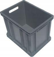 Plastikowy pojemnik magazynowy transportowy skrzynka 1/2 EURO 40x30x32