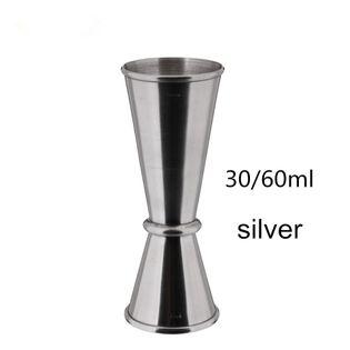 SHAKER Do Drinków i Koktajli -  Stalowy - DRINK BAR 30x60ml Srebrny
