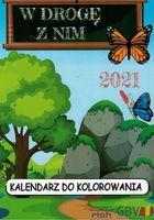 Kalendarz dla dzieci do kolorowania 2021 W drogę z Nim - blok rysunkowy