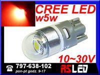 żarówka LED T10 Cree UHP czerwona 12v 24v wysoka jakość MOCNA