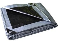 Plandeka 3x5 (srebrno-czarna), najgrubsza 260g/m2