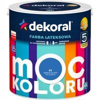 Farba lateksowa MOC KOLORU 2,5L niebieski klejnot