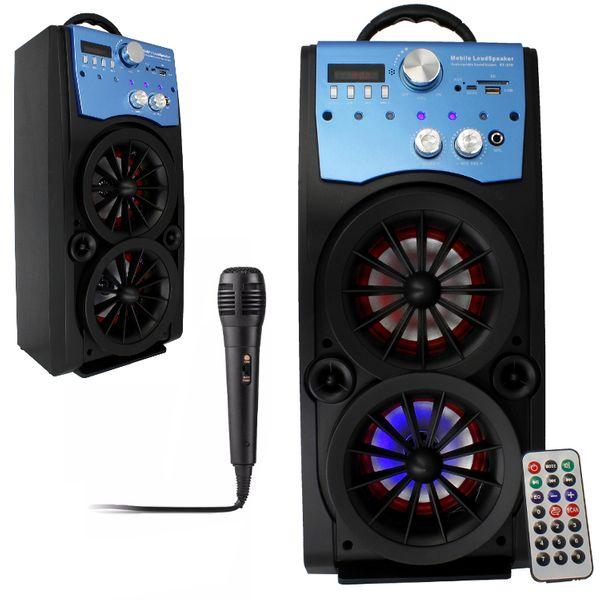 Głośnik Miniwieża Boombox 60W LED Bluetooth + Mikrofon RX-S50 G208Z zdjęcie 16