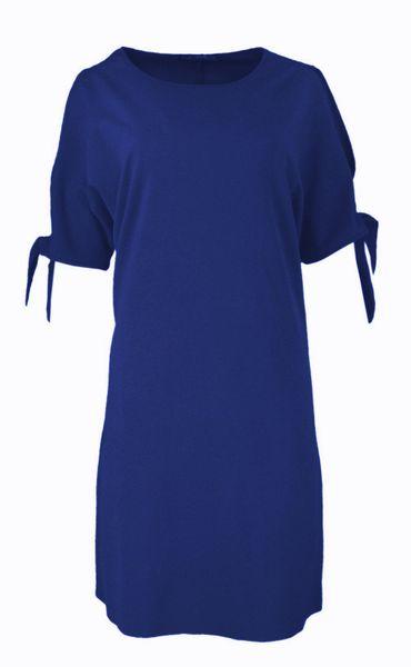 Luźna sukienka koktajlowa - chaber Rozmiar - 42 zdjęcie 6