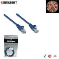 Patch Cord 100% miedź Intellinet Cat.6 UTP, 1,5m, niebieski ICOC U6-6U-015-BL