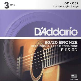 Struny do gitary akustycznej Daddario EJ13 3D