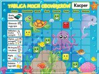 Dziecko 40x30cm tablica Podwodny świat magnetyczna plan tygodnia dla ucznia