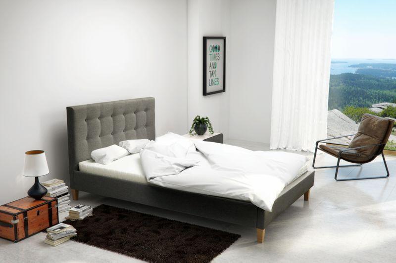 Łóżko tapicerowane DAWID 160X200 + STELAŻ+MATERAC zdjęcie 9