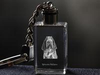Wyżeł włoski szorstkowłosy - kryształowy brelok z wizerunkiem psa