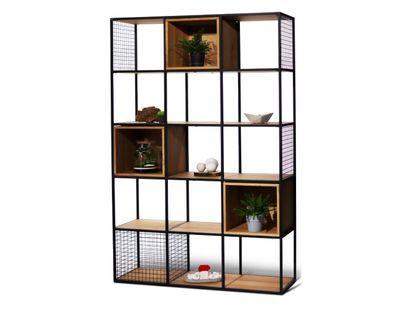 Regał Grid Box - loftowy regał z kubikami