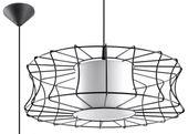 Lampa Wisząca Salerno Czarna żyrandol kuchnia salon pokój