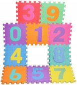 Edukacyjna Mata Piankowa Puzzle Cyfry 10szt 29x29 X05