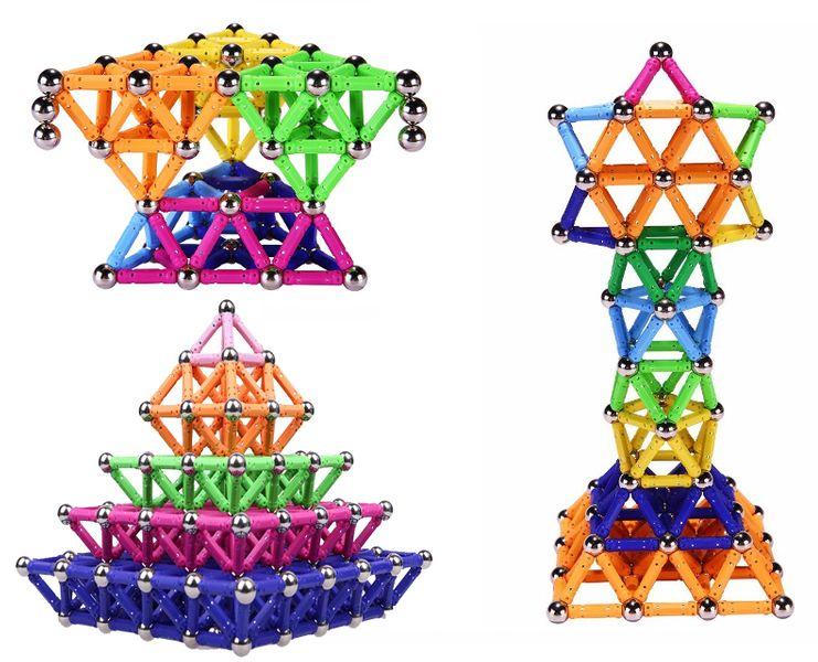 Klocki magnetyczne kulki 3D MAGNETIC Noedymowe 535el. NIEBIESKIE Z115N na Arena.pl