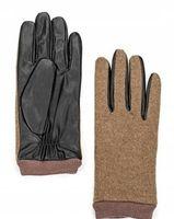 Oodji rękawiczki z łączonych materiałów r. S
