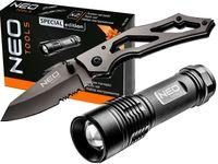 Zestaw nóż składany i latarka Neo Tools Set 2 63-032
