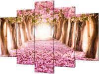 Obraz drukowany Romantyczna alejka 150x100