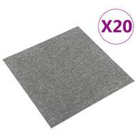 Podłogowe płytki dywanowe, 20 szt., 5 m², 50x50 cm, szare