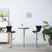Obrotowe krzesła barowe, 2 szt., ekoskóra, 40x47x105 cm, czarne