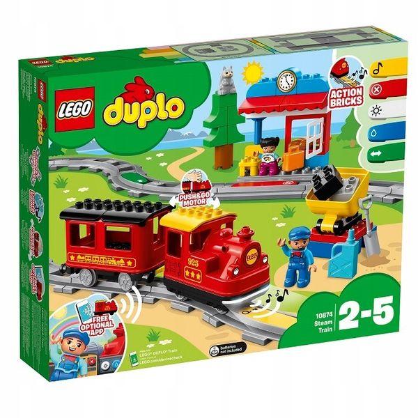 KLOCKI LEGO DUPLO POCIĄG PAROWY 10874 || SKLEP NYGUS zdjęcie 2