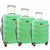 Zestaw 3 walizek PELLUCCI RGL 81 Miętowe