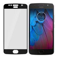 Motorola Moto G5s - Niepękające szkło hybrydowe na cały ekran 3mk FlexibleGlass Max - Czarny
