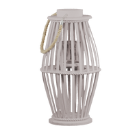 LAMPION DREWNIANY BEŻOWY 44,5CM