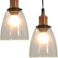LAMPA SUFITOWA WISZĄCA ZESTAW 2 SZTUKI OKRĄGŁE 14cm