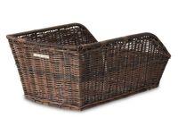Kosz na tylny bagażnik BASIL CENTO RATTAN LOOK + Mounting set for CENTO basket, syntetyczny ratan brązowy, wodoodporny
