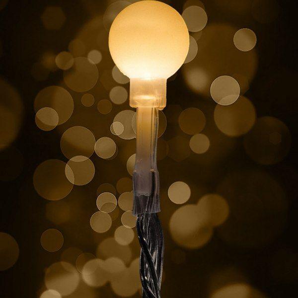 Lampki kulki świąteczne 200 LED na baterie i pilota zdjęcie 2