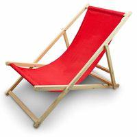 Leżak Plażowy Leżak ogrodowy Kolor Czerwony