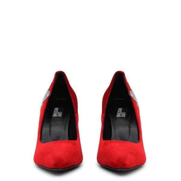 Love Moschino  czółenka damskie  czerwony 37 zdjęcie 3
