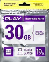 Starter PLAY INTERNET 30GB LTE 19zł do E3131 E3372