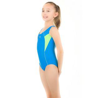 Kostium pływacki KATE roz.116-128 Kolor - Stroje damskie - Kate Kid - 28 - niebieski / zielony, Rozmiar - Stroje dziecięce - 122