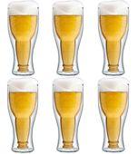 Szklanki Kufle Termiczne z Podwójną Ścianką Piwa Pokale 350ml 6 sztuk