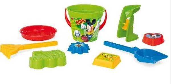 Komplet do piasku 9 el. Mickey Mouse WADER 77235