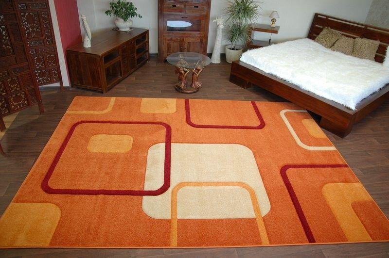 Dywan MYSTIC wzór 5014 terra 80x150 cm pomarańcz na Arena.pl