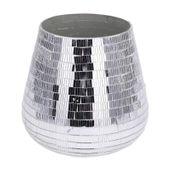 Szklany świecznik latarnie latarenka glamour 15cm