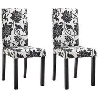 Krzesła stołowe, 2 szt., czarne, tapicerowane tkaniną