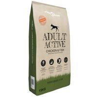 Sucha karma dla psów Adult Active Chicken & Fish, 15 kg