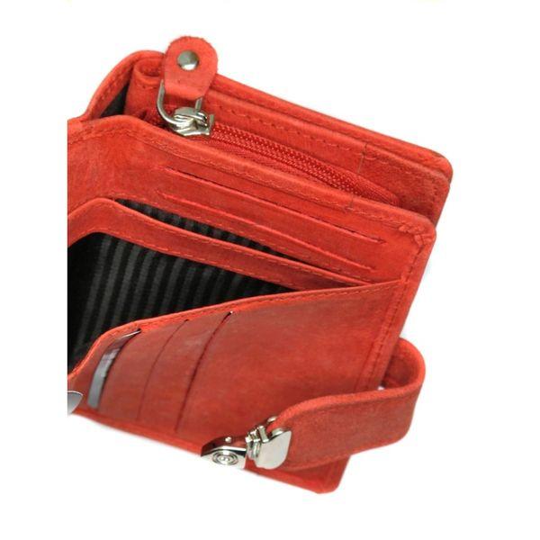 399186ccf9cf4 Pojemny czerwony portfel damski Always Wild ze skóry nubukowej z zapięciem  zdjęcie 5