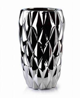 Wazon Ceramiczny 15X15X25Cm Basile Silver Mondex Htts6789