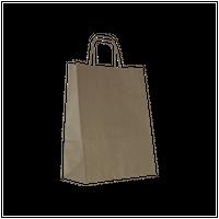 Torba papierowa beżowa 24 x 11 x 32 cm