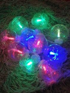 Lampki choinkowe kule led światłowód RGB+czapka
