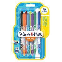 Zestaw 8 kolorowych długopisów automatycznych Ink Joy Paper Mate